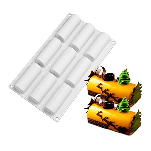 Joyeee French Mousse Cake Molds  9 Holes Rectangle Shaped Silicone Mould for Mousse Ice Cream Cheesecake Fondant and more  Nonstick Tray for Halloween Christmas Cake Truffle Chocolate Desserts