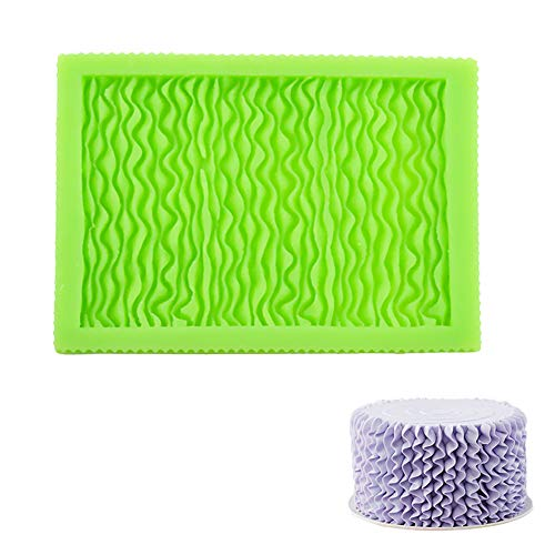 MENGCORE Ruffle Fold & Skirt Pleats Mould Silicone Mold Fondant Cake Decorating Tool Gumpaste Sugarcraft Chocolate Forms Bakeware