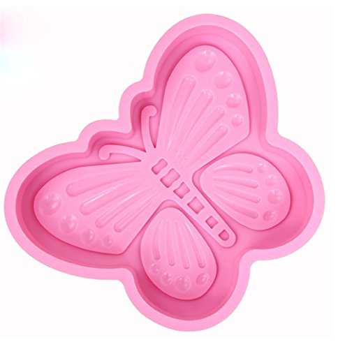 MKNzone 1 pc Single Cavities Silicone Mould For Chocolate  Jelly And Candy etc. - Butterfly Shape  Random Colour Delivery(16.5 X 12.5 X 2.5 cm)