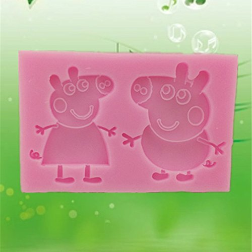 Moldyfun Peppa Pig And Little Brother George Silicone Mould