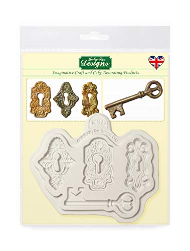 Locks and Key Silicone Mould for Cake Decorating  Crafts  Cupcakes  Sugarcraft  Candies  Chocolate  Card Making and Clay  Food Safe Approved  Made in The UK