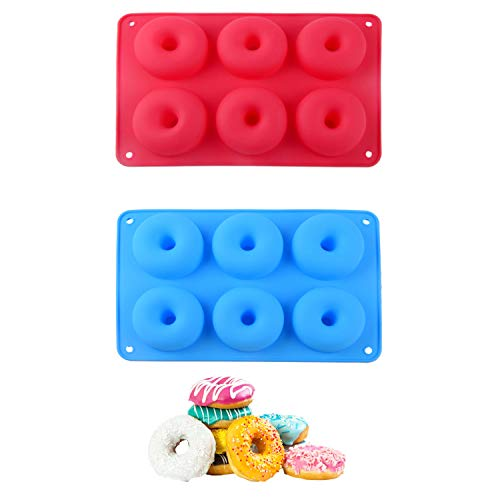 Doughnut Moulds Silicone Donut Mould Donought Molds 2 Pcs Non-Stick BPA Free