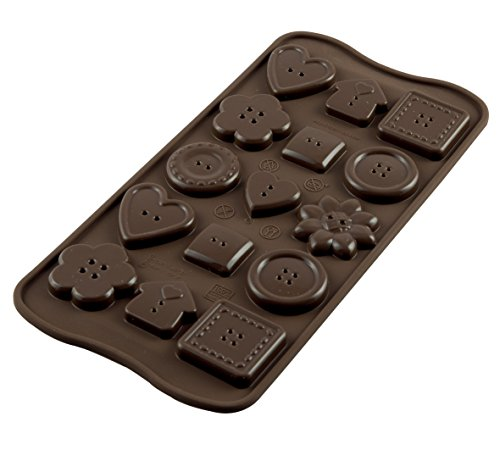 silikomart Silicone Chocolate Mould Buttons  Brown