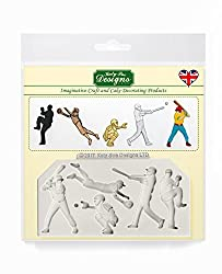 Baseball Silhouettes Silicone Mould for Cake Decorating  Crafts  Cupcakes  Sugarcraft  Cookies  Candies  Cards and Clay  Food Safe Approved  Made in The UK