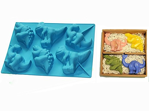 FantasyDay 2 Pack Premium Dinosaur Silicone Mould Soap Baking Molds Bakeware for Halloween Easter Theme Cake  Muffin Cups  Candy  Ice Cube  Muffin  Bread  Tart  Brownie  Cornbread  Cheesecake More