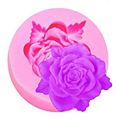 Inception Pro Infinite Silicone Mould for Craft Use of a Rose with Leaves - Also Suitable for Soap