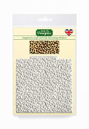 Leopard Print Design Mat Silicone Mould for Cake Decorating  Crafts  Cupcakes  Sugarcraft  Candies  Chocolate  Card Making and Clay  Food Safe Approved  Made in The UK
