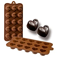 IBILI Chocolate Mould Heart 21x10 5x2 5 cm Silicone  Brown  21 x 10.5 x 2.5 cm