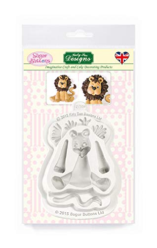 Lion Silicone Mould for Cake Decorating  Crafts  Cupcakes  Sugarcraft  Cookies  Candies  Card Making and Clay  Food Safe Approved  Made in The UK  Sugar Buttons