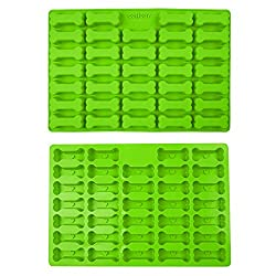 Collory Silicone Mini Bone Baking Mould for Dog Biscuits and Treats  39 x 26 cm  Chocolate Mould  Non-Stick and Food-Safe (BPA-Free)  Silicone  Green  39 x 26 5 cm