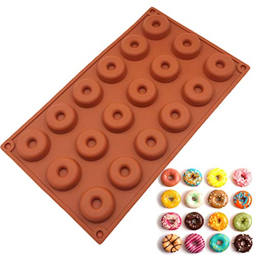 JasCherry Silicone Mould for Chocolate  Jelly and Candy - Doughnuts - Color Random