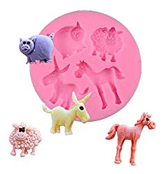 Inception Pro Infinite – 4 Animal Silicone Mould – Horse – Pig – Sheep – Christmas – Donkey – Birthday Gift Idea – Silicone Moulds – Craft Mould