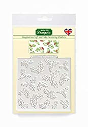 Holly Design Mat Silicone Mould for Christmas Cake Decorating  Cupcakes  Sugarcraft  Candies and Clay  Food Safe  Made in The UK