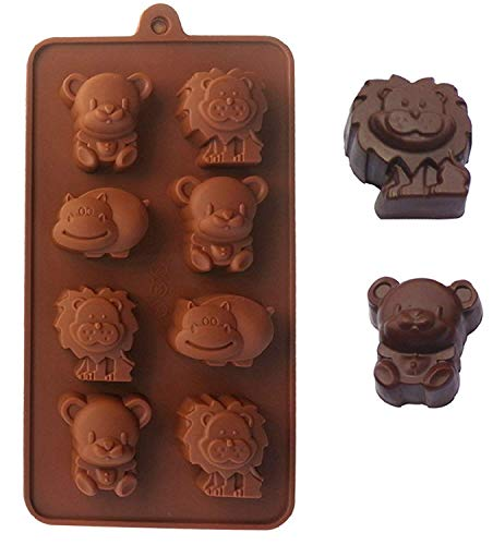 JasCherry Silicone Mould for Chocolate  Jelly and Candy - Animal series - Color Random