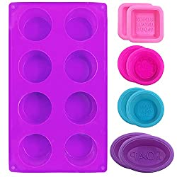 9 PCS Silicone Cupcake Baking Mould  FineGood Soap Making Mold Silicone Muffin Tray Baking Pan for DIY Homemade Craft