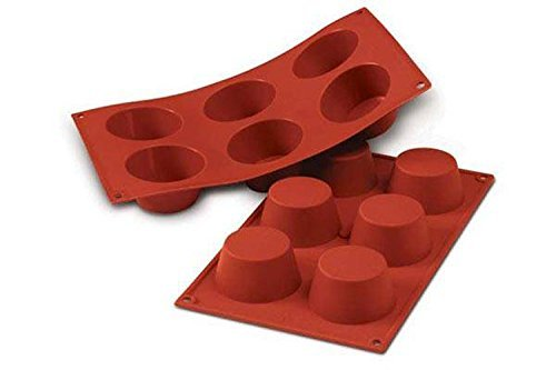 Silikomart 20.023.00.0060 Silicone Muffin Mould, Medium, 69 mm, Terracotta