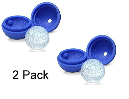 Morning May 3D Death Star Wars Silicone Ice Cube Mould (Pack of 2)
