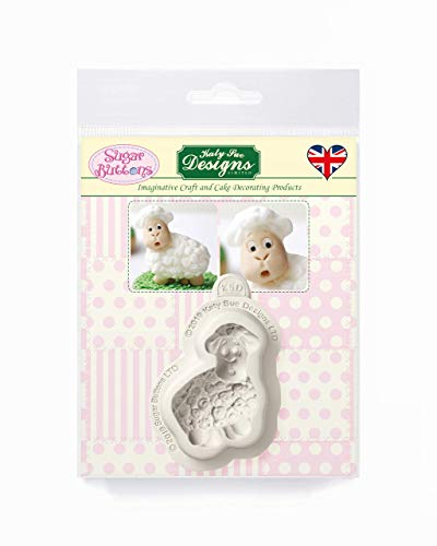 Little Lamb Silicone Mould for Cake Decorating  Crafts  Cupcakes  Sugarcraft  Candies  Card Making and Clay  Food Safe Approved  Made in The UK  Sugar Buttons by Kathryn Sturrock