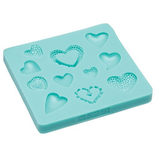 KitchenCraft Sweetly Does It Hearts Silicone Fondant Mould