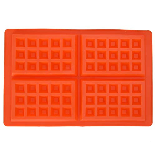 Waffles Mold Cake Chocolate Candy Pan Cookie Mould Silicone Nestle Muffin Breakfast Kitchen Baking Set (Square)