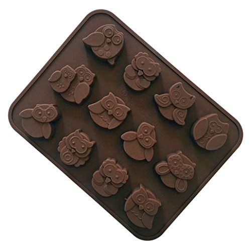 FantasyDay Halloween Night Owl Silicone Mould Baking Molds Bakeware for Easter Theme Chocolate  Muffin Cups  Ice Cube  Soap  Wafer  Cake  Bread  Tart  Pie  Pudding  Candy  Jello Shot and More