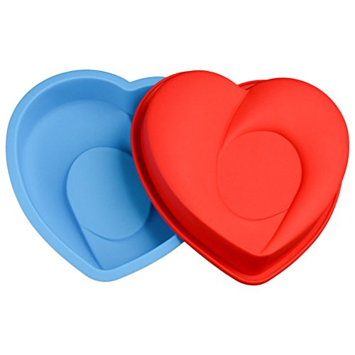 JasCherry Heart Shaped Silicone Mould Cake Pan Non Stick Flexible Baking Tin Mold Kitchen Bakeware Mould #5