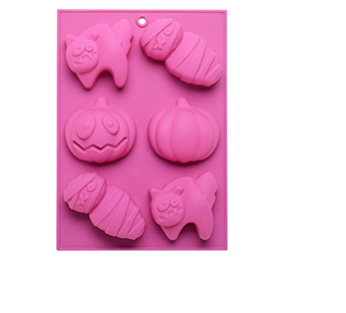 FantasyDay Halloween Pumpkin Witch Ghost Silicone Mould Candy Mold Ice Tray for Holiday Chocolate  Muffin Cups  Wafer  Cake Toppers  Bath Bombs  Soaps Cookie and More #1
