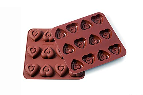 silikomart Wonder Cakes 22.506.77.0069 Mould Heart Shape Silicone Brown 1.2 x 15.5 x 16.3 cm