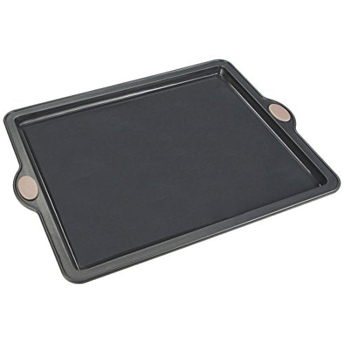 Levivo Silicone Baking Pan 26 x 20 cm  Non Stick Cake Pan in Grey  Microwave and Freezer Safe Loaf and Cake Mould