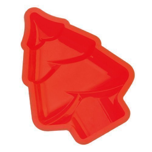 eBuyGB Christmas Tree Mould Set  Silicone  Red