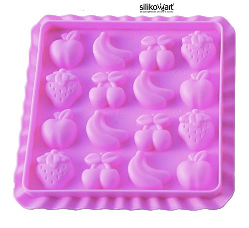 Unbekannt Silikomart Silicone Mould Candy Slim Easy All Fruits