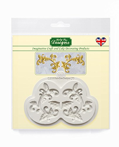 Leaf Flourish Silicone Mould for Cake Decorating  Cupcakes  Sugarcraft  Candies and Clay  Food Safe