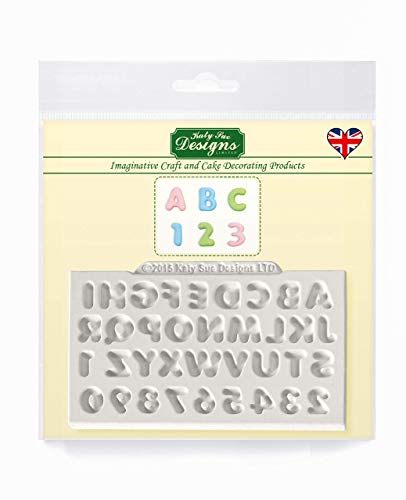 Mini Domed Alphabet and Numbers Silicone Mould for Cake Decorating  Crafts  Cupcakes  Sugarcraft  Candies  Cards and Clay  Food Safe Approved  Made in The UK