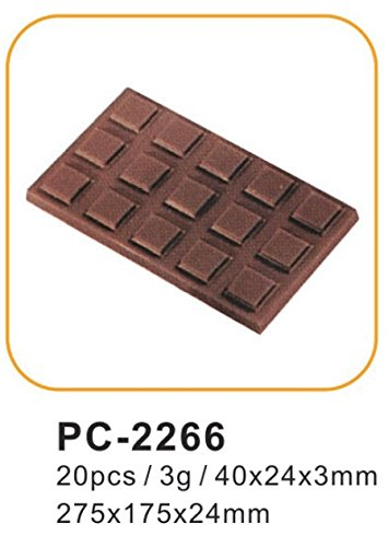 Silicone Bakeware Polycarbonate Mould 20pcs for Professional Chocolates  Acrylic  27.5x13.5x2.4 cm