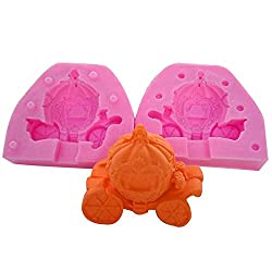 September 3D Stereo Pumpkin Carriage Cake Silicone Molds Handmade Soap Mould Chocolate Baking Tools Clay