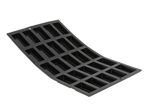 De Buyer 1976.02 Moul ' Flex Silicone Baking Mould - 25 Mini Financier Cakes  Black