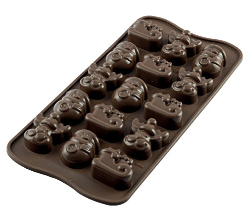 silikomart Silicone Chocolate Mould Winter  Brown