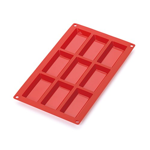 Lékué Silicone Cke Mould 9 Holes  Red
