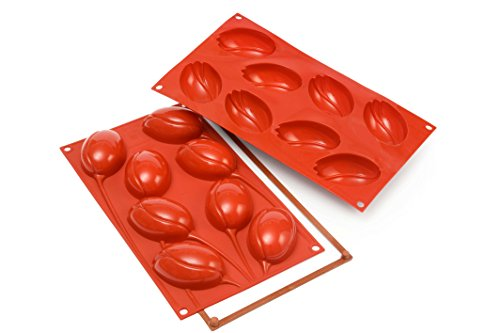 Silikomart Silicone Mould No. 8 Tulip  Red