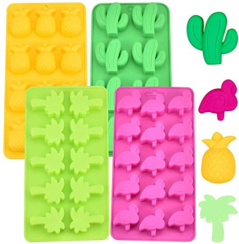Silicone Chocolate Molds -WENTS 4 Pcs Candy Moulds  Ice Cube Tray Candy Mold for Kids Party's and Baking Mould Peanut Butter Cup Cake Decoration
