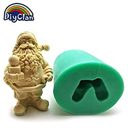 Santa Claus Candle Mold DIY Silicone Cake Mold Christmas Decoration Mould Father Christmas soap Form Cake Tools S0029SD25