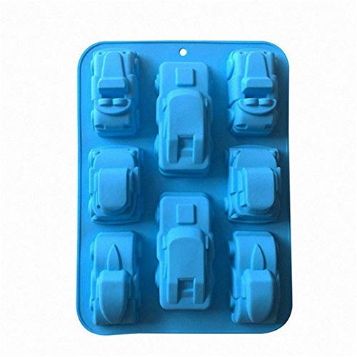 MKNzone 1 pc 8 Cavities Silicone Mould For Chocolate  Jelly And Candy etc. - Car model  Random Colour Delivery(32.5 X 23.5 X 4 cm)