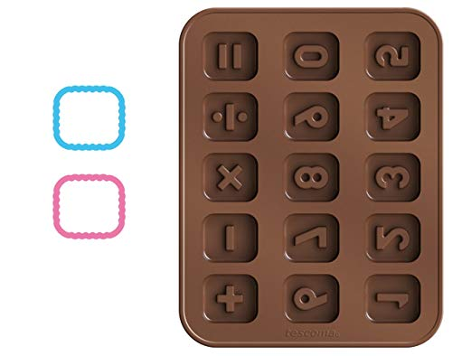 Tescoma Chocolate Mould Set With Cookie Cutters  Counting Delicia Kids  Silicone  Assorted  19 x 3.4 x 14.8 cm