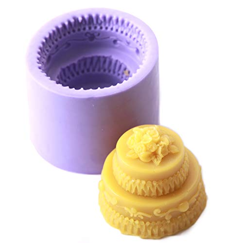 World Of Moulds Wedding Cake Mould  Silicone  7 x 7 x 3.7 cm
