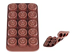 Home Praline Mould  15 Jobs  Silicone  Brown