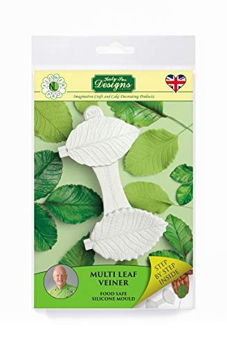 Multi Leaf Veiner Silicone Sugarpaste Icing Mould  Flower Pro by Nicholas Lodge for Cake Decorating  Crafts  Cupcakes  Sugarcraft  Candies  Cards and Clay  Food Safe Approved  Made in The UK