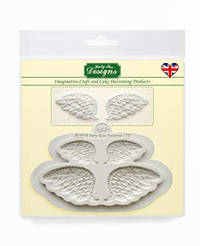 Wings Silicone Mould for Cake Decorating  Crafts  Cupcakes  Sugarcraft  Candies  Chocolates  Card Making and Clays  Food Safe Approved  Made in The UK