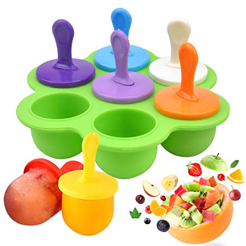 NATUCE Silicone Ice Lolly Molds  Colorful Popsicle Molds with Plastic Sticks  Ice Pop Mould  Reusable Ice Lolly Moulds Ice Lolly Makers  Popsicle Moulds for Kids- Food Grade  BPA Free  Dishwasher Safe