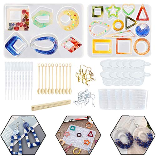 YAOYIN Resin Mould  67PCS DIY Silicone Molds  Pendant Earrings Making  Earring tools for Jewelry Craft Making
