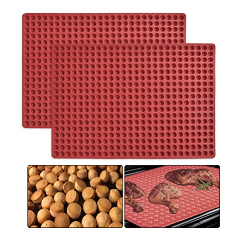 WOWOSS Non-Stick Silicone Baking Mat Oven Baking Mat Silicone Mini Cookies Mould for Biscuits  Chocolate  Reusable Chef Silicone Oven Mat for Kitchen Cooking BBQ(40 x 28cm)